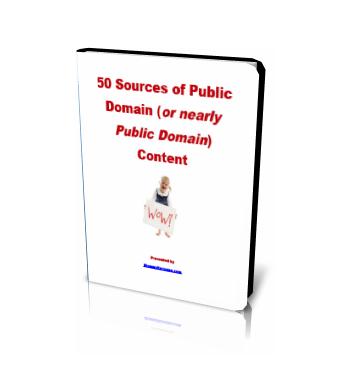 50 Sources of Public Domain Content